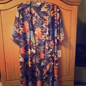 Beautiful purple and orange Shirley kimono